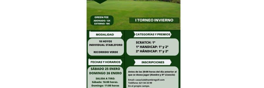 I Torneo Invierno en Tambre Golf