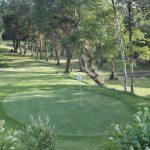 Tambre Golf green del hoyo 5